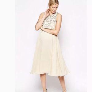 ASOS Maternity Cream bead  Pearl Dress Sequin